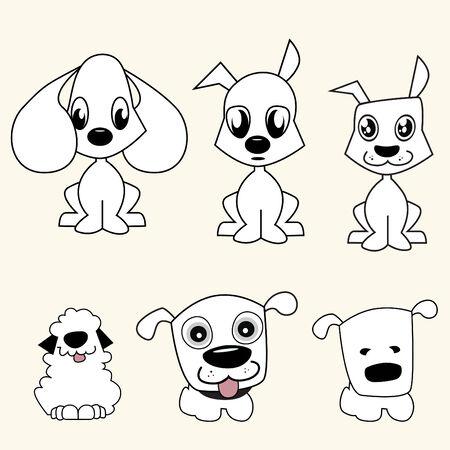 critter: cartoon dogs vector