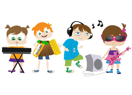 music kids Stock Vector - 8352753
