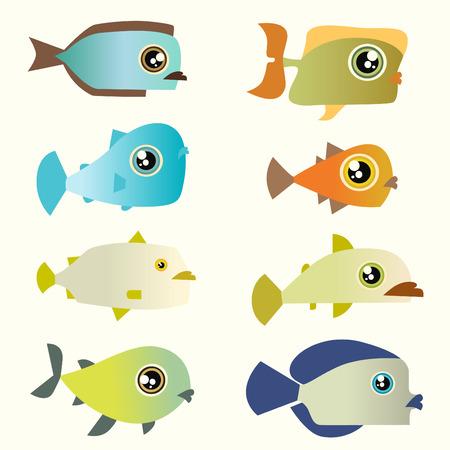 cartoon fish set Stock Vector - 8352762