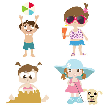 sun  glasses: children on a beach