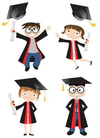 graduacion caricatura: graduado
