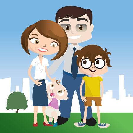 happy family: happy family illustration