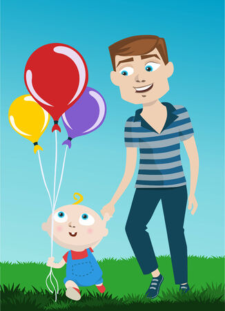 father and kid Stock Vector - 8352793