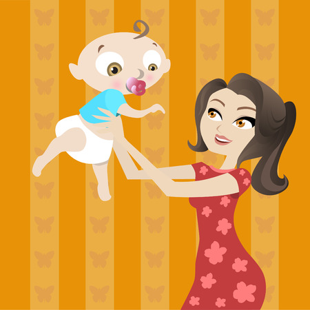 mother and baby Stock Vector - 8352803