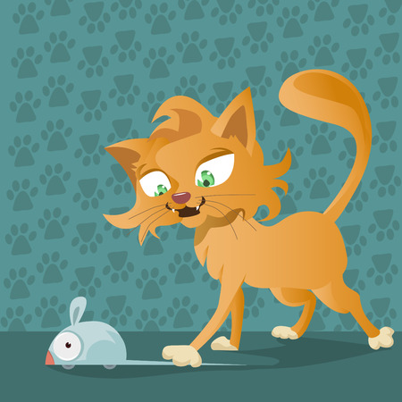 mouse cartoon: cat and mouse