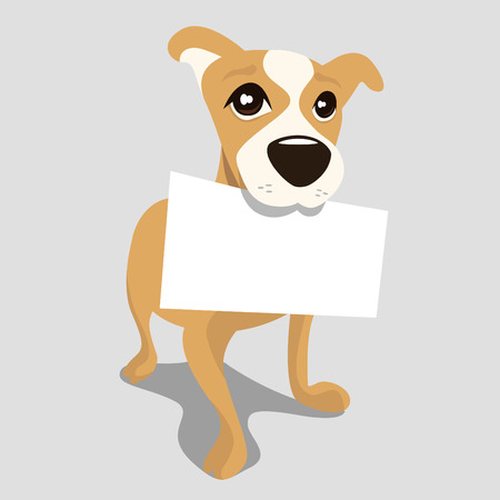 doggy: dog with message paper