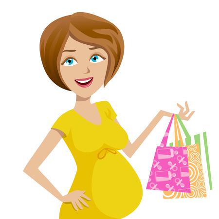 pregnant woman Stock Vector - 8352833