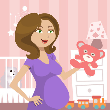 pregnant woman Stock Vector - 8352825