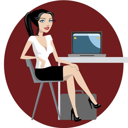 mujer de negocios trabajando