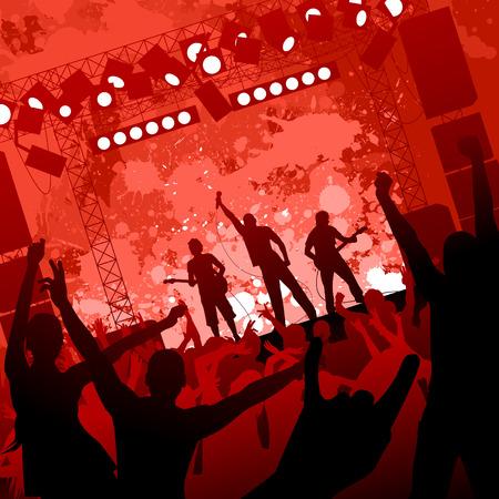 rock concert: concerto rock  Vettoriali