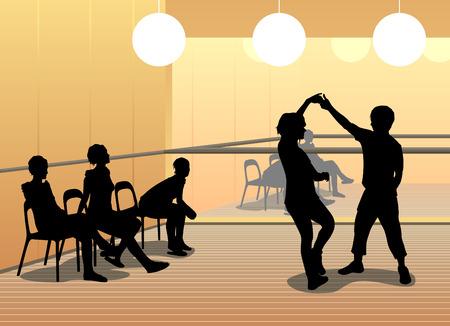 dance school: dance school  Illustration