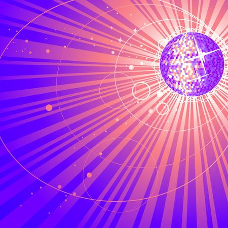 abstract shining mirror ball  Stock Vector - 8403973