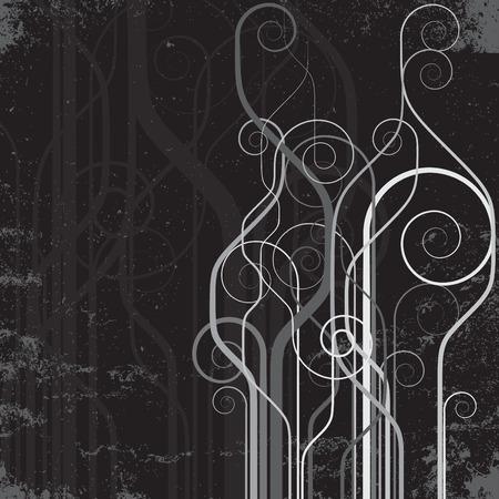 smother: grunge floral background