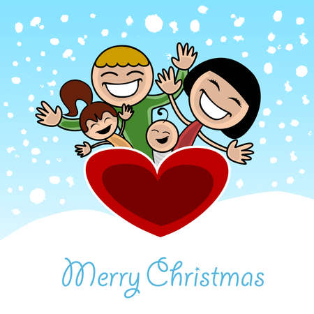 christmas family  Stock Vector - 8403911