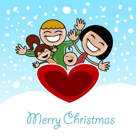 christmas family Stock Vector - 8403911