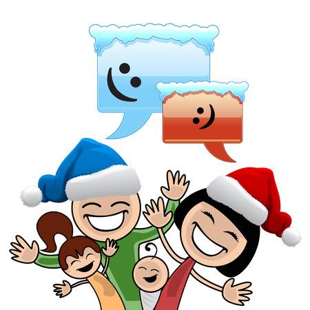 christmas family  Stock Vector - 8403905