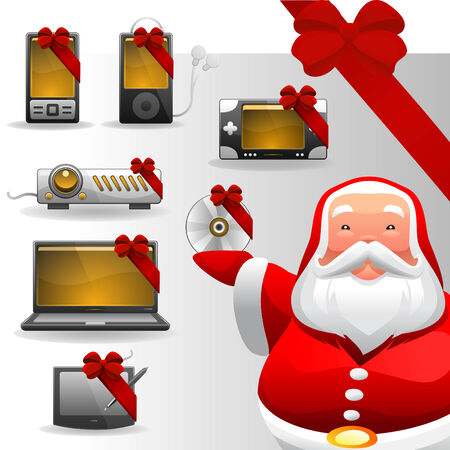 christmas concept electronic set  Vector