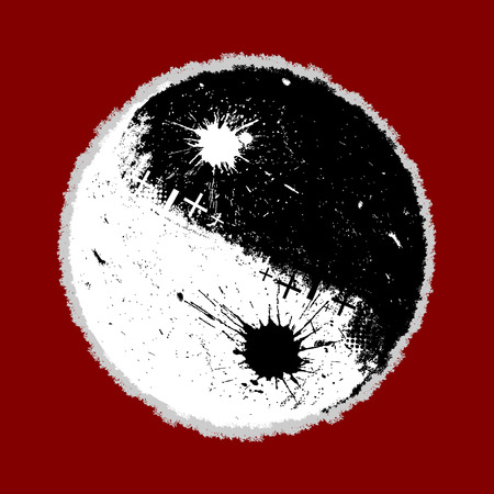 ying and yang: grunge style ying yang