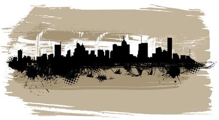 the city silhouette  Çizim