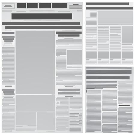 newspapers: krant achtergrond  Stock Illustratie