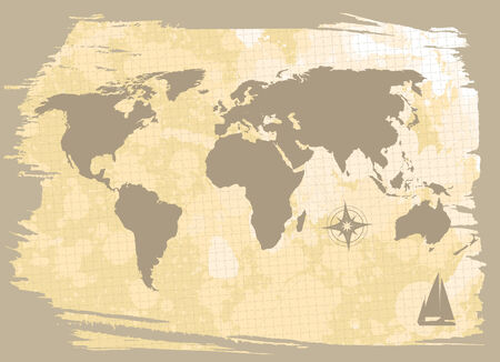 worldmap: abstract background with world-map  Illustration