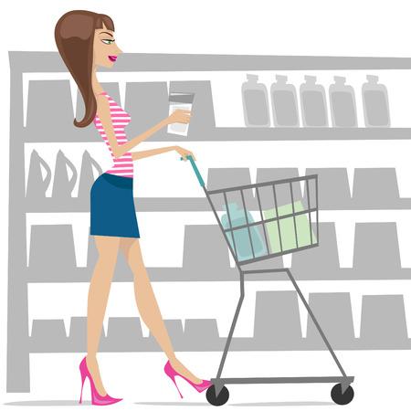 woman shopping Stock Vector - 8477777