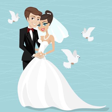 marrying illustration Stock Vector - 8479254