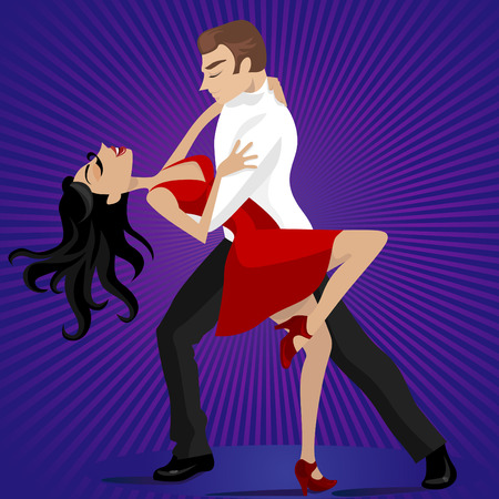 couple dance Stock Vector - 8479260
