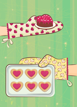 waffle: love cookie  Illustration