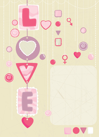 decorative heart gifts  Vector