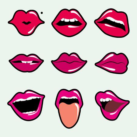 bouche homme: l�vres Illustration