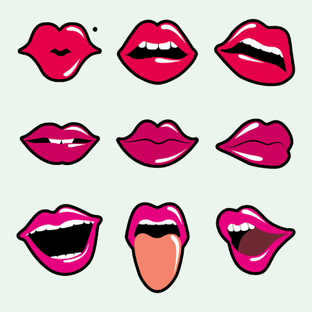 lipstick kiss: lips Illustration