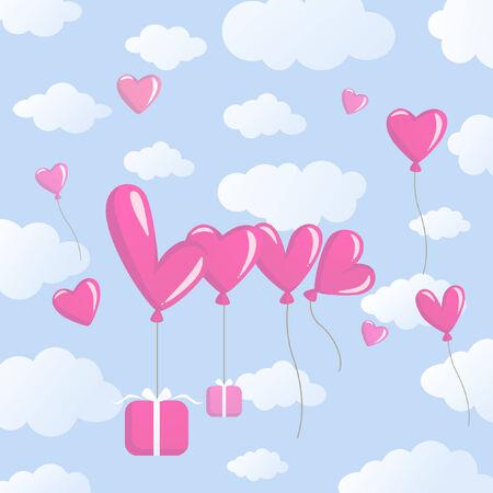 love balloons Stock Vector - 8529197