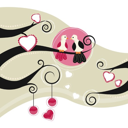 love and friendship: couple birds