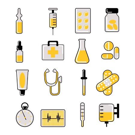 hypo: medical icon set