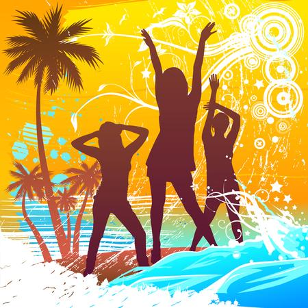 fiesta en la playa: dise�o de verano  Vectores