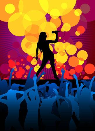 perform performance: music girl