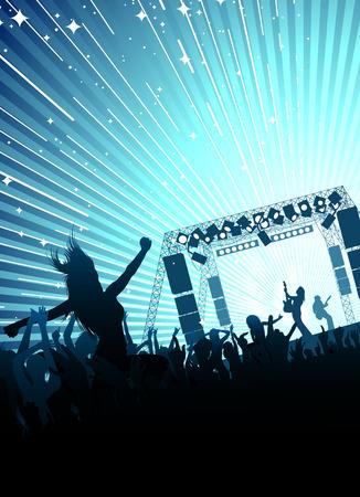 rock concert Vetores