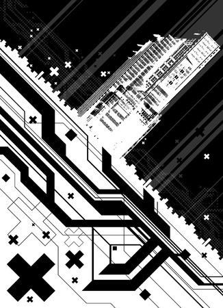 architectural modern design Stock Vector - 8566880