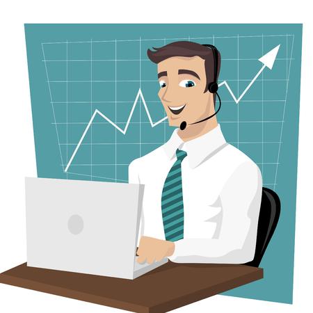 business man Stock Vector - 8566822