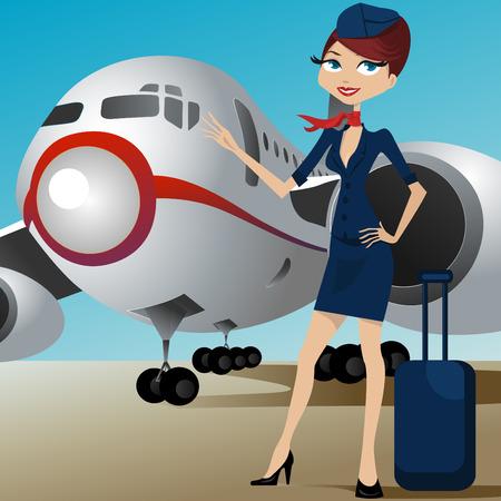 avion caricatura: Gu�a de viaje en el aeropuerto