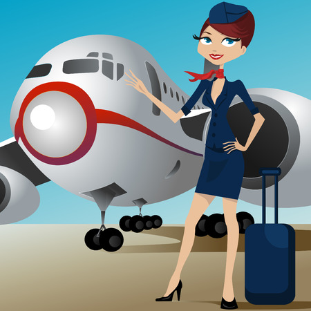 air hostess: travel guide in airport