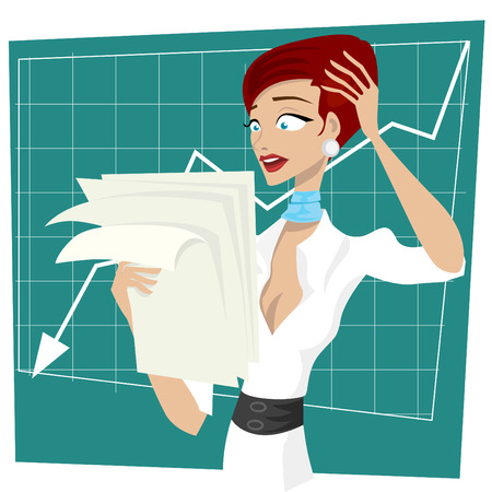 business women unhappy  Stock Vector - 8566837
