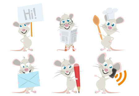 rodent: cute mouse character  Illustration