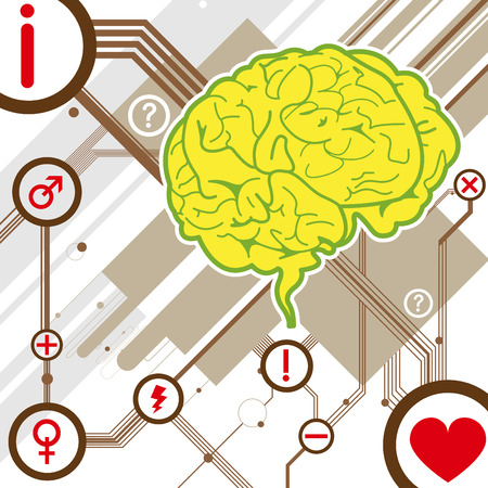 anatomy brain: cervello astratta illustrazione sfondo