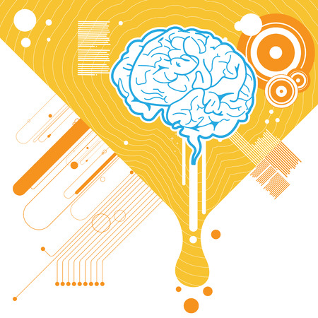 abstract brain illustration background