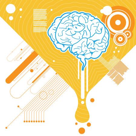 human mind: Fondo de ilustraci�n del cerebro abstracto