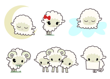 baa: little sheeps  Illustration