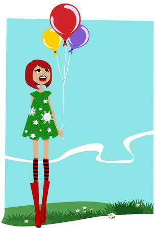 bash: girl with balloons