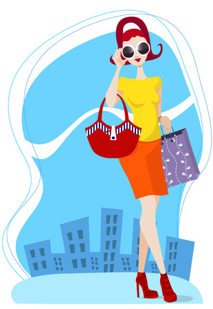 life styles: shopping girl